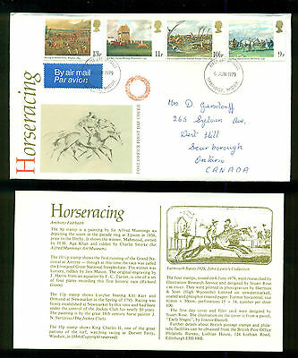 UK GREAT BRITAIN: Post Office First Day Cover HORSE RACING 1979