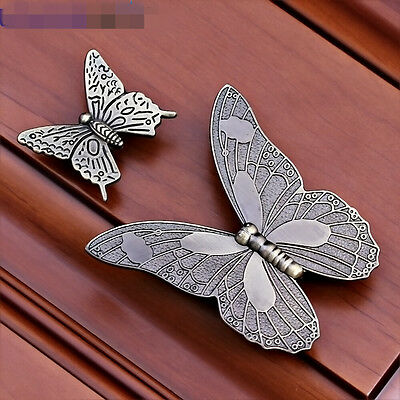 Vintage Butterfly Door Kitchen Drawer Cabinet Closet Handle Pull Knob S L size