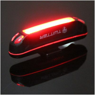 Rechargeable 100LM Red LED USB Head light Flash Bicycle Bike Stop Rear Tail Lamp