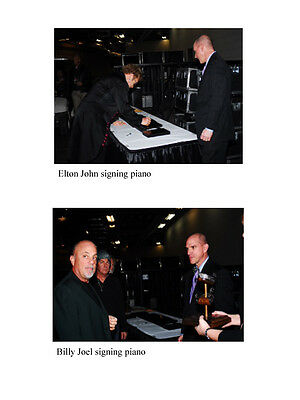 Steinway, Billy Joel, Yamaha Elton John. SIGNED by both of them, only 1 in world