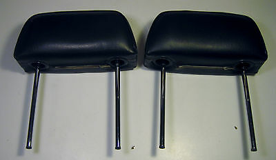 Vintage Volvo 140 164 Seat Headrest Set BLACK 142 144 145 NICE!