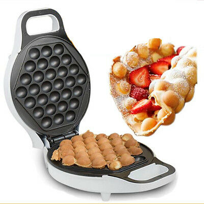 AU 220-240V Electric Non stick QQ Egg Maker Oven Baker Waffle Eggettes Tool 640W