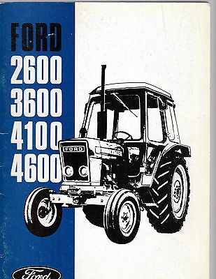 Ford 2600, 3600, 4100, 4600 Tractors Operator's Manual
