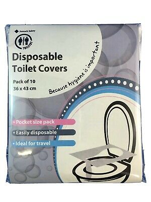 disposable paper travel toilet seat cover pack 10 hygienic flushable seats germ