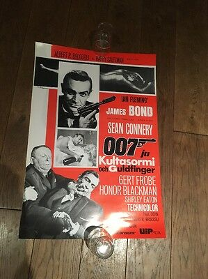 Original Goldfinger James Bond Poster 007 sean connery