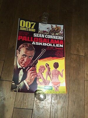 Original Thunderball James Bond Poster 007 sean connery