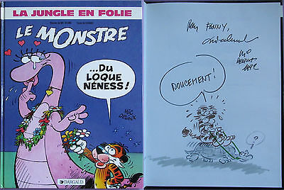 mic delinx - le jungle en folie - le monstre du loque ness - BD 86 + dedicace