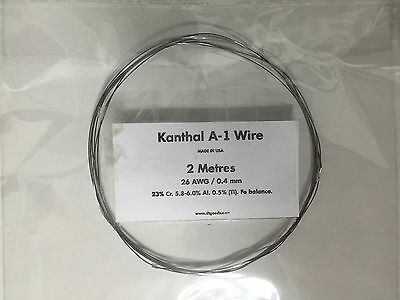 KANTHAL A1 RESISTANCE WIRE 26 AWG / 0.4 MM - 2 Metres -