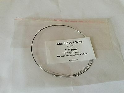 KANTHAL A1 RESISTANCE WIRE 32 AWG / 0.2 mm - 2 Metres -