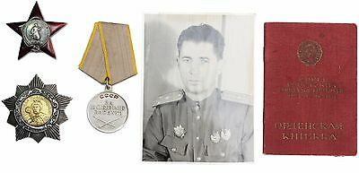 Russia Orders Set KHMELNITSKY 2nd Class, Red Star, For Battle Merit, Docs USSR
