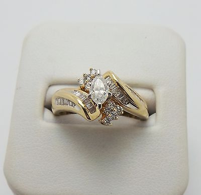 14Ct Yellow Gold 2 Ring Diamond  Bridal Set Valued @ $2664 Comes With Valuation