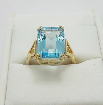 Large 9Ct Yellow Gold Topaz Ring Valued @$974 Comes With Valuation
