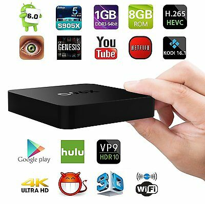C96X Android 6.0 Smart OTT TV Box S905x Quad Core 1g/8g 4K Unlocked Media Player