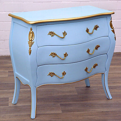 COLOUR-EDITION BAROCK KOMMODE pastellblau [hellblau] BAROQUE COMMODE - ANTIKSTIL