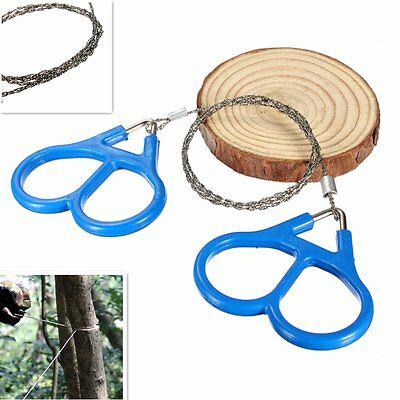 Steel Wire Saw Scroll Outdoor Hiking Camping Survival Portable Tool