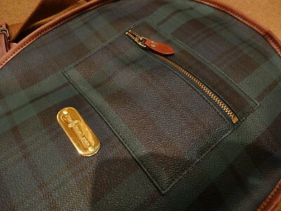 Borsa Polo Ralph Lauren - Blackwatch Tennis Raquet Bag Case Plaid Leather/Pelle