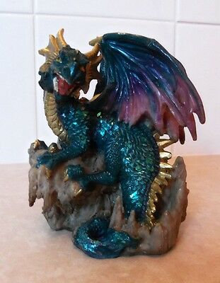 Green  Dragon  Statue  Figurine Ornament