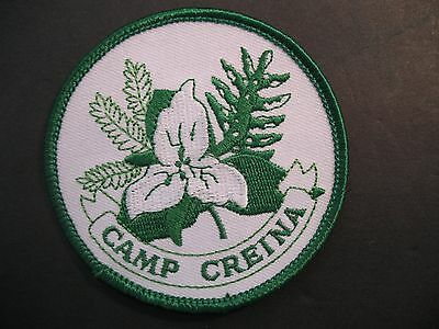 Girl Guides Canada Camp Creina. Embroidered Patch Scouts Brownies