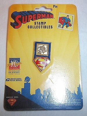 SUPERMAN Stamp Collectible ~ Stamp Pin DC Comics 1998 USPS NEW G821