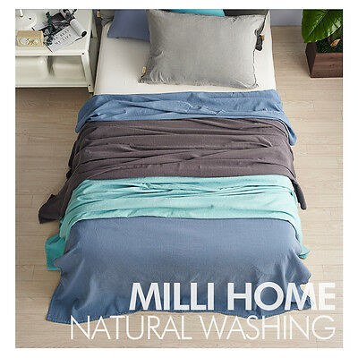 [MILLIHOME] cotton 100% pigment summer cool Blankets Queen size / Made in Korea