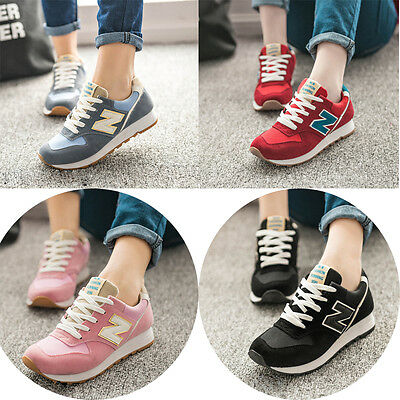 Hot sale girls women running lightweight casual sports leather trainers shoes