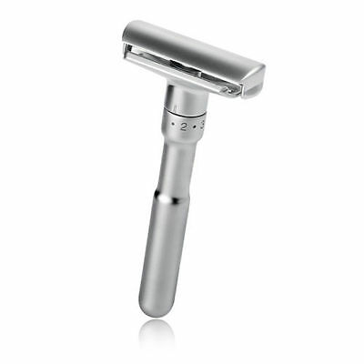 Men's Manual Zinc Alloy Adjustable Safety Razor Double Edge Shaver + 5 Blades