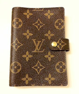 100% Authentic LOUIS VUITTON Agenda PM Notebook cover Monogram R20005