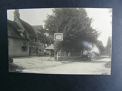 East Hendred Real Photo RP Postcard - The Plough Inn - Oxfordshire Berkshire