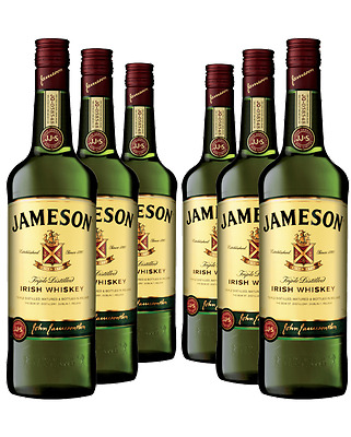 6 x JAMESON WHISKY EMPTY BOTTLES  70cl  upcycling diy projects