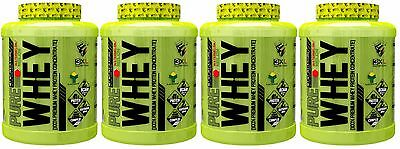 4 BOTES TOTAL 8Kg PROTEINA PURE WHEY 2KG 3XL NUTRITION chocolate con leche