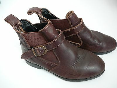 Sure Fit Girls Ankle Boots Brown Size 10 Leather Buckle Australian Made Casual