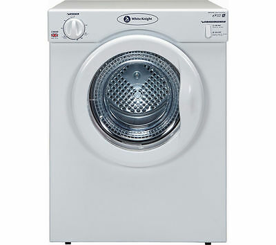 Vented Tumble Dryer Small Tabletop Desktop White WHITE KNIGHT C38AW  3.5 kg