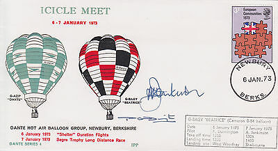 BALLOON COVER Flown/Signed: 1972 Icicle Meet - 'Beatrice' Cachet & 2 Signatures