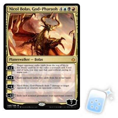 NICOL BOLAS, GOD-PHARAOH Hour Of Devastation HOU Planeswalker Magic MTG CARD