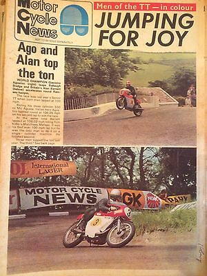 Motor Cycle News MCN Jun 10 1970 Isle Of Man TT Agostini Bennett Special Colour