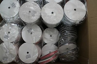JOB LOT X 229 REELS OF RIBBON 10mm & 6mm  RED GINGHAM AND BLACK GINGHAM