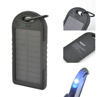 12000mah Portable Solar Power Bank Charger Waterproof LED Torch For Mobile Phone