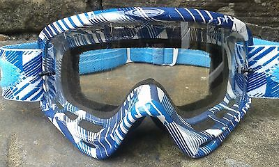 Oakley 'O' Frame MX goggles - 'Blue puzzled' Motorcross MTB DH