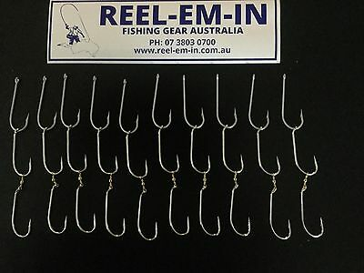 10 Sets Of Reel-em-in Pre Rigged SIZE 5/0 Gang Hooks With Swivel Tail AUTO70