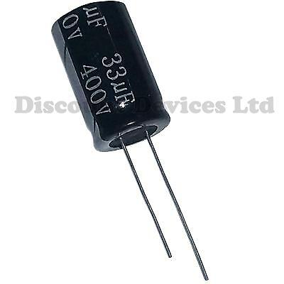 33uF 400V Radial Electrolytic Capacitor 105C