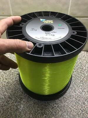 Platypus BULK PRE TEST Fishing game line yellow 15KG 2.11 - 3780 m per kg.