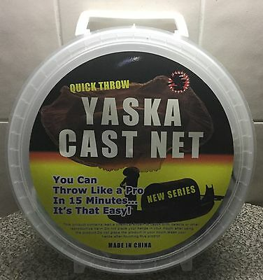 Yaska Quick Throw Cast Net 4 Ft Drop 3/4 Mesh For Prawns And Bait C1160F