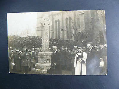 Real Photo RP Postcard showing Theale War Memorial - Royal Berkshire Regiment