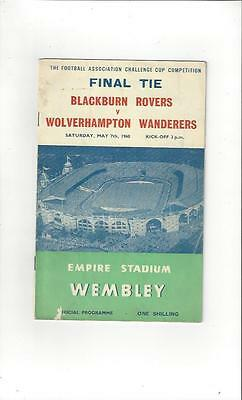 Blackburn Rovers v Wolves FA Cup Final 1960 Football Programme