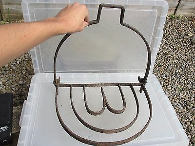 Victorian Fireplace Trivet Stand Kettle Hook Cooking Pan Holder Fire Antique Old