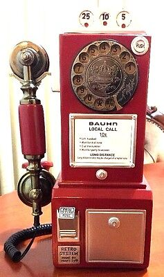 Vintage Reproduction 50s Style Payphone Telephone