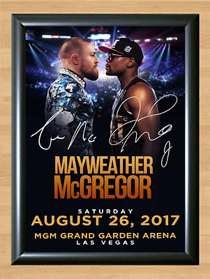 Floyd Mayweather Jr. vs Conor McGregor Signed Autographed A4 Print Poster Photo