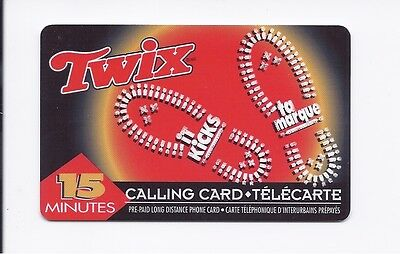 RARE unused 15 minute AT&T Canada Twix collectible calling card