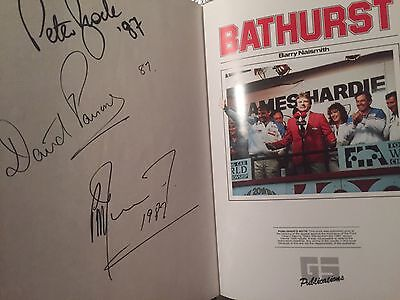 Autographed By Race Winners Australia's Great Race. 1987 Bathurst. Peter Brock