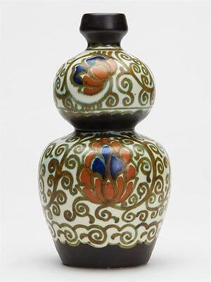 Gouda Pzh Darling Double Gourd Art Pottery Vase 1924